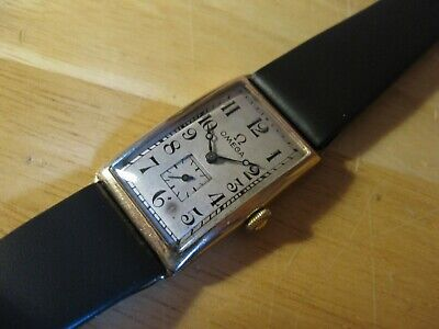 Early Rare Art Deco 1920's Omega Tank Style Case 9ct Gold Vintage Mens Watch • 1.20£
