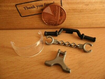 £3.90 • Buy 3343 Police Bike Spares Handle Bars Stand Visor Handcuffs Playmobil New Spares