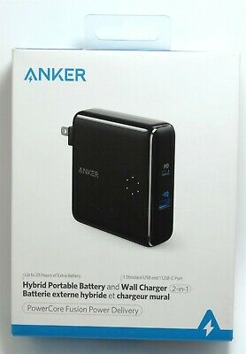 AU48.62 • Buy Anker PowerCore Fusion 5000 MAh Portable Fast Charger With PD USB-C + USB-A
