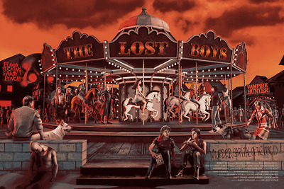 £101.91 • Buy The Lost Boys Carousel Limited Edition Rare Screen Print