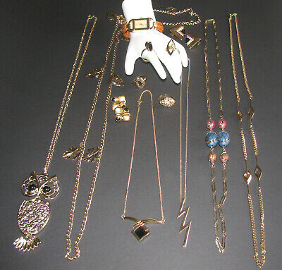 $ CDN68 • Buy Vintage Costume Jewelry Sarah Coventry Necklaces Rings 14PC Mixed Lot EUC