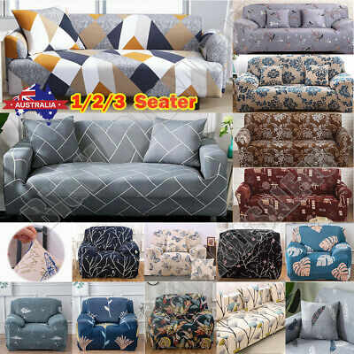 AU25.32 • Buy 1 2 3 4 Seater Stretch Sofa Cover Couch Lounge Recliner Slipcover Protector