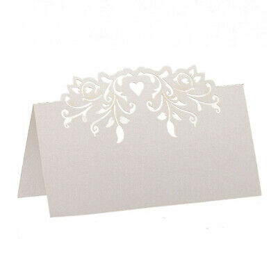 2X(60pcs Lace Wedding Table Name Place Cards Personalised Reception Decorat W6E8 • 8.49£