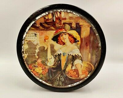 Beautiful Large Vintage Advertising Confectionery/Sweet Tin-Lady With Oranges • 17.99£