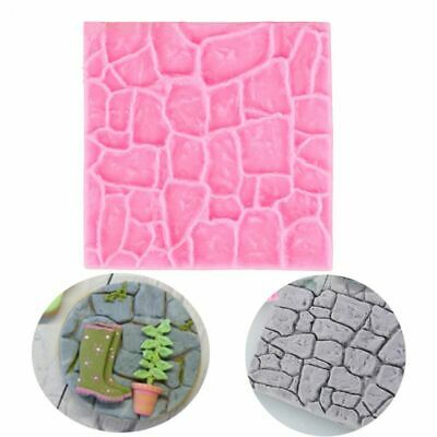 Mold Kitchen Rock Stone Fondant 3D Castle Farm Wall Silicone Mould Sugar Craft • 3.41£