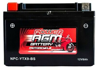 AU49.95 • Buy Power AGM 12V 10AH 150CCAs Motorcycle Battery NPC-YTX9-BS Bike Scooter Jet Ski