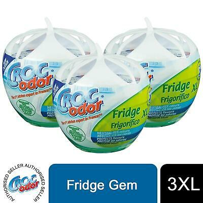 CrocOdor Fridge XL Deodorizer Neutralise Odour Eliminator Freshener, 3pk Of 140g • 8£
