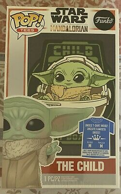 "$17.99 • Buy Funko Pop Tees STAR WARS THE MANDALORIAN Baby Yoda ""THE CHILD T-Shirt Size MED M"