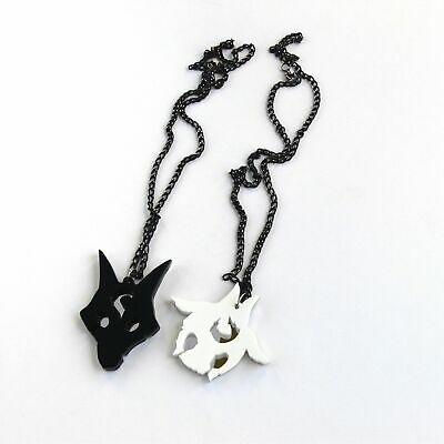£18 • Buy LoL Kindred Friendship Necklaces Laser Cut Black White Acrylic