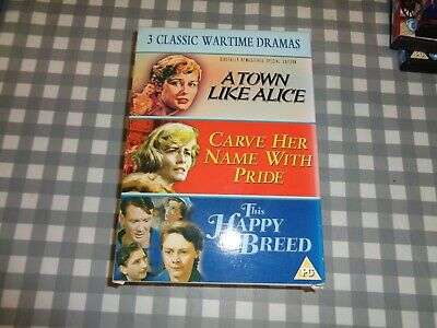 Town Like Alice/Carve Her Name With Pride/This Happy Breed DVD (2003) Virginia • 12.50£
