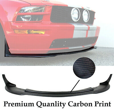 $199.90 • Buy (Carbon Print) For 05-09 Ford Mustang V8 CV3 Style Front Bumper Chin Lip Spoiler