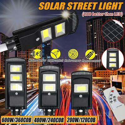 1500W/2500W LED Solar Street Light Radar PIR Motion Sensor Wall Lamp W/ Remote • 31.99£