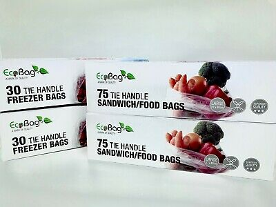Tie Handle Food Bags X 4 / UK Seller • 6.87£