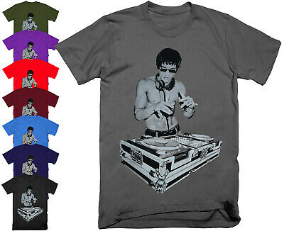 DJ BRUCE LEE Mens T Shirt Tony Stark Avengers Movie Music Headphones S - 5XL • 9.95£