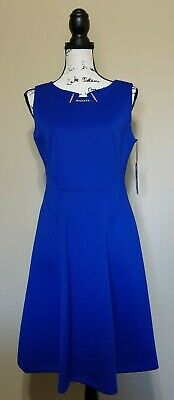 $ CDN75.95 • Buy NWT Ivanka Trump Cobalt Blue Fit & Flare Sleeveless Scuba Dress Size 8