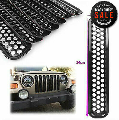 $0.99 • Buy Honeycomb Front Grille Covers Insert Mesh Grill For Jeep Wrangler TJ 1997-2006