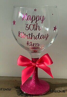 Personalised Gin Glass - Any Name - Birthday 18th 21st 30th 40th 50th  • 12.85£