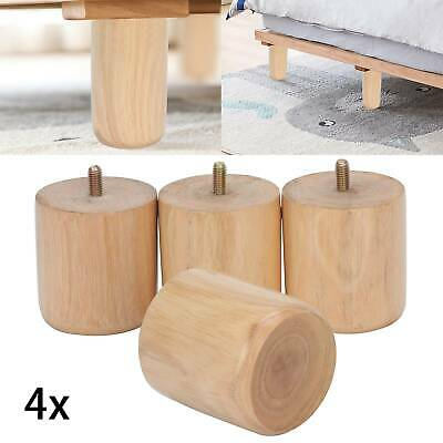 £7.19 • Buy 4x Wooden Sofa Legs Replacement Tapered Feet For Stool Bed Chair M8 TURNED WOOD