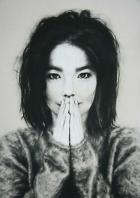 **PREMIUM RANGE** Bjork Reproduction Poster, Home Wall Art, Size: Size: A2 • 19.99£