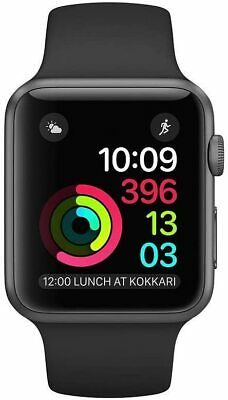 $ CDN227.39 • Buy Apple Watch Series 1 42mm Space Gray Aluminum Black Sport Band Activity IOS