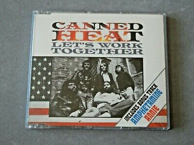 Canned Heat  Let's Work Together  CD Single 1989 ** EXCELLENT CONDITION ** • 1.50£
