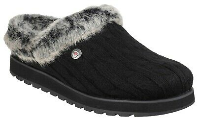 Skechers Womens Keepsakes Ice Angel Slip On Mule Slipper Black Size UK 4 EU 37 • 45.99£