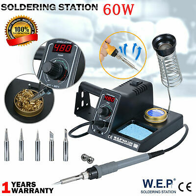 £29.97 • Buy WEP 60W Soldering Iron Station Kit Variable Stand Temperature Digital LED UK