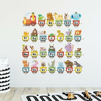 £11.95 • Buy Decowall  DW-2006 Animal Alphabet Train Kids Removable Wall Stickers Decal