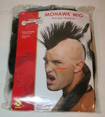 $12.60 • Buy RUBIE'S Mohawk Wig Native American Inspired NEW Costume Adult Mens Feather Black
