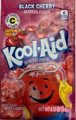 Kool Aid 1x BLACK CHERRY Flavour Drink Sachets 3.6g US Import UK Seller  • 1.88£