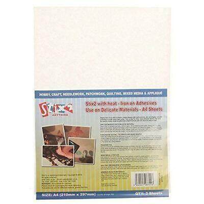 £3.85 • Buy Stix2 With Heat Iron On Adhesive Delicate Materials 2 A4 Sheets S57356