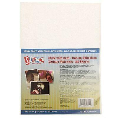 £3.85 • Buy Stix2 With Heat Iron On Adhesive Various Materials 2 A4 Sheets S57357