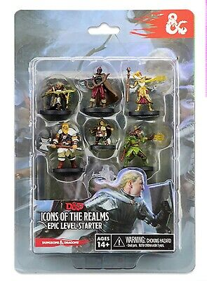 AU35.70 • Buy Dungeons & Dragons Icons Of The Realms Miniatures Epic Level Starter Set