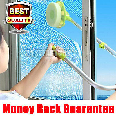 Telescopic Window Cleaner Cleaning Kit Extending Wash Head Squeegee U Type Safe • 16.11£