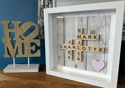 Scrabble Personalised Picture Frame - No Frame • 16£