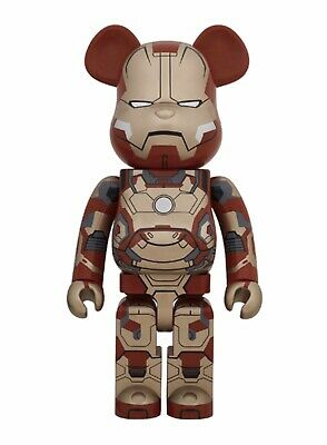 $5000 • Buy Medicom Bearbrick 2014 Iron Man Mark XLII 42 Normal Ver. 1000% Be@rbrick Ironman