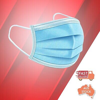 AU11.50 • Buy SYD Stock General Disposable Face Mask Protective Mask 3 Layer Meltblown Filter