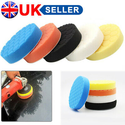 5 X 6''150mm Car Polishing Pad Hex Logic Type Waxing Spong  Rotary Buffering UK • 3.46£
