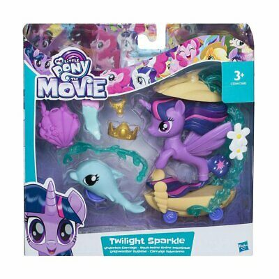 My Little Pony The Movie TWILIGHT SPARKLE Figure * Undersea Carriage * Playset • 9.90£
