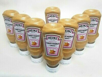 Heinz CURRY MANGO Sauce FRUITY SPICY Indian Asian BBQ Party 8 X 220ML 16/6/2020 • 7.99£