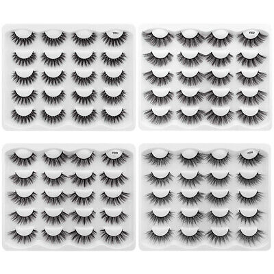 AU13.99 • Buy 3D 10Pairs Mink Natural Thick Long False Eyelashes Eye Lashes Makeup Extension