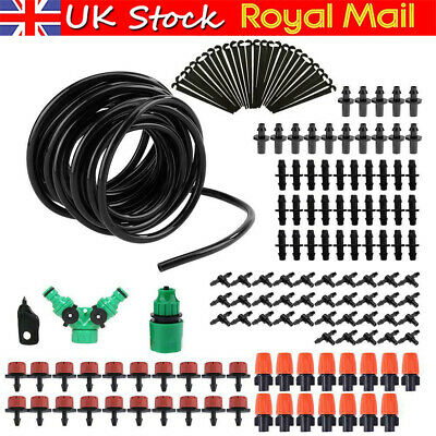 30M Micro Drip Irrigation Watering Automatic Garden Plant Greenhouse System UK • 7.55£