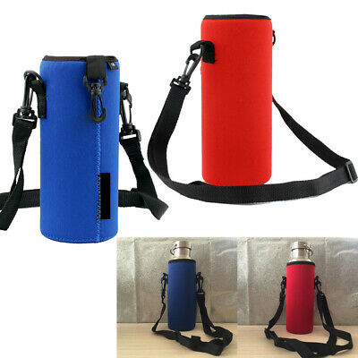 AU9.98 • Buy 1000ML Water Bottle Carrier Insulated Cover Bag Holder Strap Pouch Outdoor