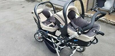 £110 • Buy Jane Powertwin Double Stroller/pram, Carseats, And Base