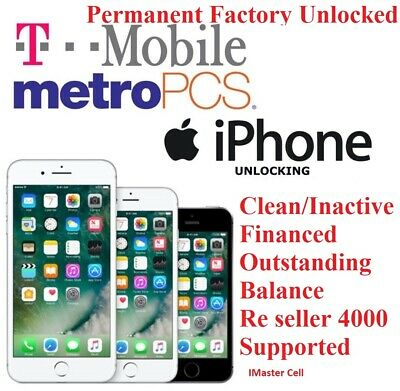 $64.49 • Buy T MOBILE/Metro Pcs /Sprint UNLOCK SERVICE FOR IPHONE 8/8 PLUS CLEAN AND FINANCED