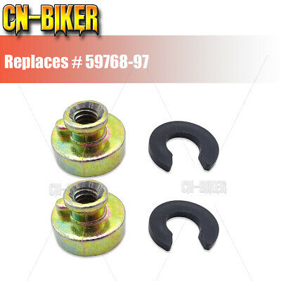$5.50 • Buy 2PCS Fender Seat Nut Base Kit For Harley Rear Seat Mounting 59768-97 Replacement