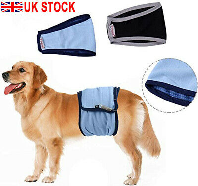 Male Dog Diapers Physiological Sanitary Nursing Nappy Nappies Pants Washable • 6.56£