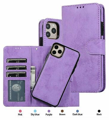 AU17.49 • Buy For IPhone 11 Case Pro MAX XS XR 6 7 8 Magnetic Leather Removable Wallet Cover