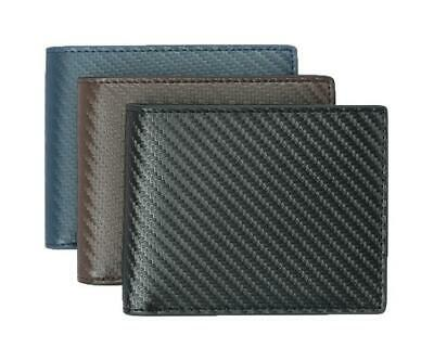 AU18.99 • Buy Carbon Fiber Wallet  RFID BIFOLD LEATHER SLIM TEN CARD SLOTS PLUS ID