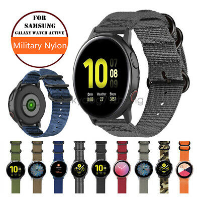 $8.99 • Buy Military Woven Nylon Watch Band Strap For Samsung Galaxy Watch Active2 44mm 40mm